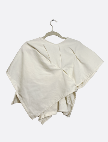 White Denim Overlay Tunic