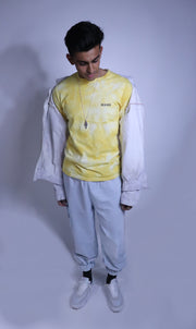Shibori-Dyed Long-Sleeved Tee
