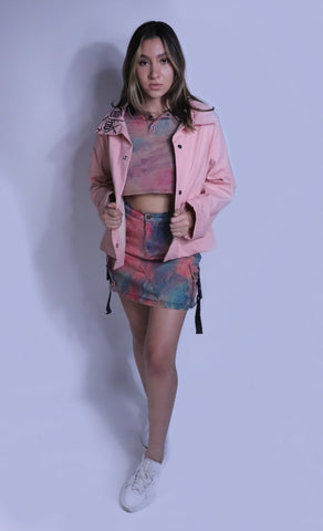 Hand-Painted Pink Hipster Jacket