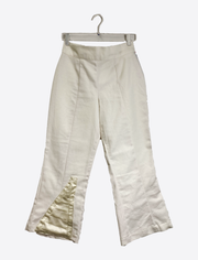 White Denim Cropped Pants