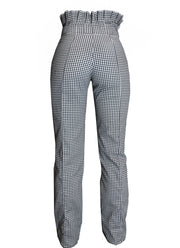 Checkered Pant with Pleated Top