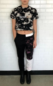 Cropped Tye-Dye T-Shirt