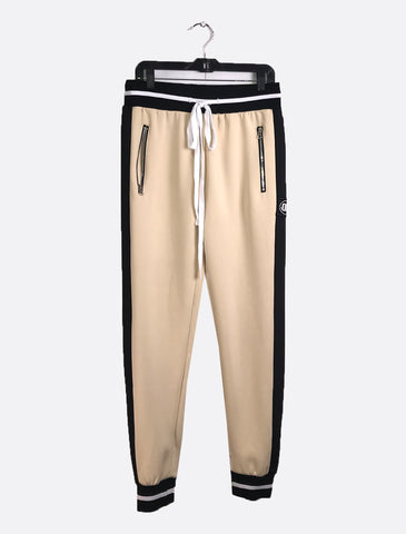 Beige and Black Sweatpants UNISEX