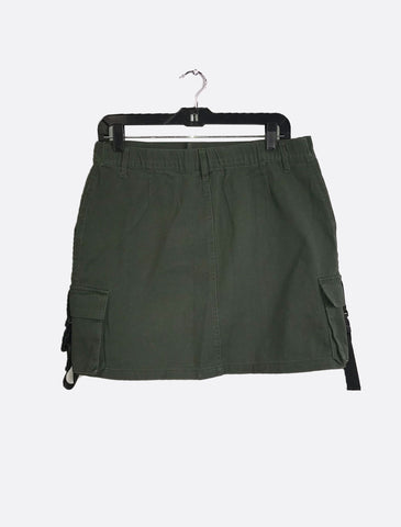 Olive Buckle Skirt