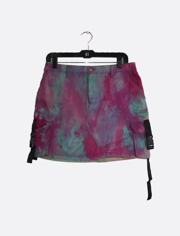 Brightly Dyed Buckle Skirt