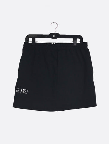 Sweat Skirt with Drawstring