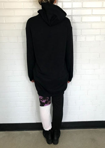 Black Sweatshirt Tunic - UNISEX