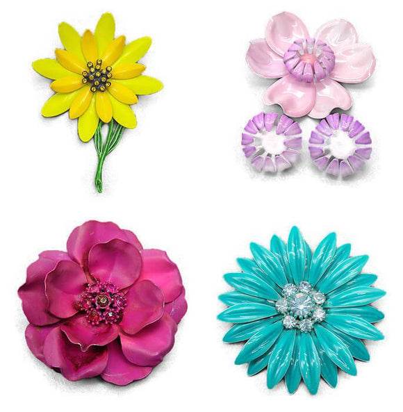 Enamel Flower Jewelry