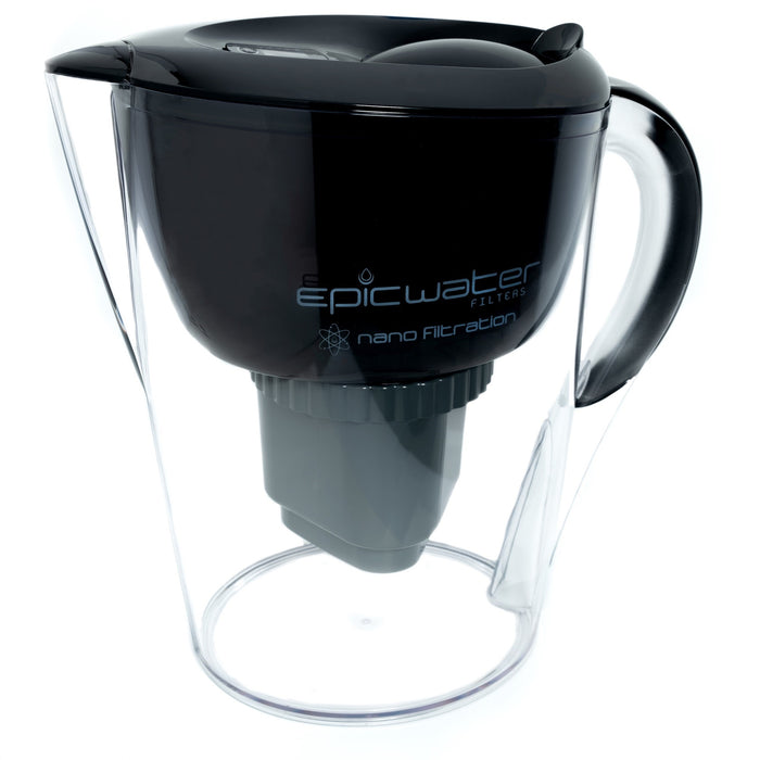 Nano Water Filter Jug | Black | Removes Bacteria