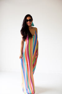 Paradise Stripe Maxi Dress