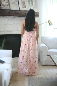 Peach And Blossom Romper Maxi Dress