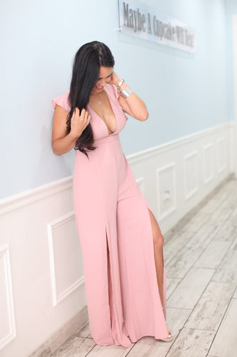 Pink Flamingo Blush Jumpsuit