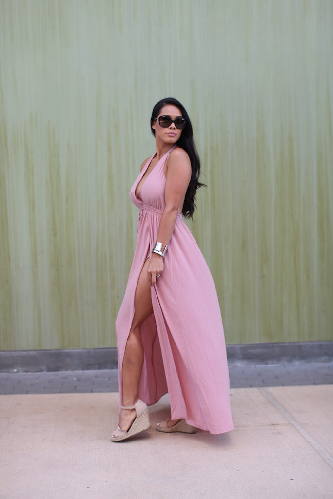 Flamingo Flair Maxi Dress
