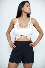 Load image into Gallery viewer, Boho Bali White Crop Top