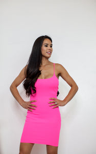 Sunkissed Neon Pink Dress
