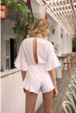 Play All White Romper