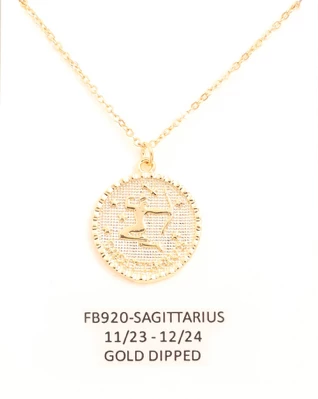 Sagittarius Zodiac Sign Necklace