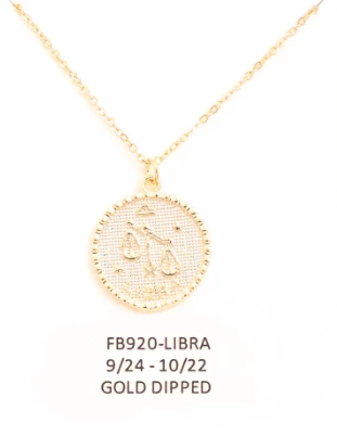 Libra Zodiac Sign Necklace