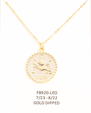 Leo Zodiac Sign Necklace