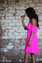 Load image into Gallery viewer, Time To Shine Hot Pink Dress