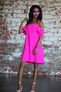 Time To Shine Hot Pink Dress