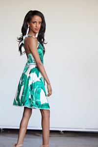 Forever Dress Palm And Floral Print