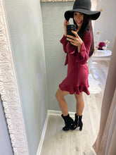 Load image into Gallery viewer, Blankie Burgundy Dress