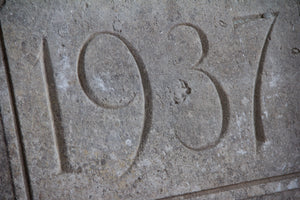 Bathstone Date Plaque