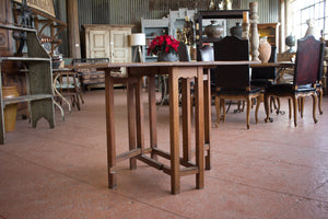 Arts & Crafts Oak Drop Leaf Table