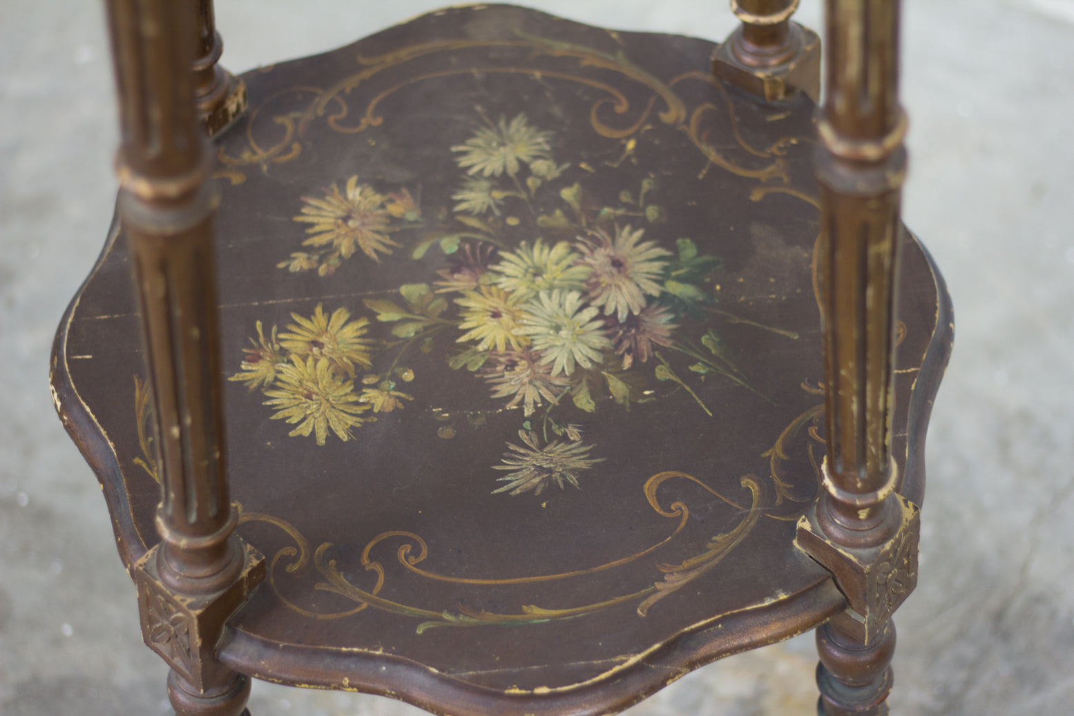 Painted and Gilded Jardiniere Stand