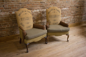 Pair of Antique Bergere Chairs