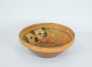 Painted Terra Cotta Bowl