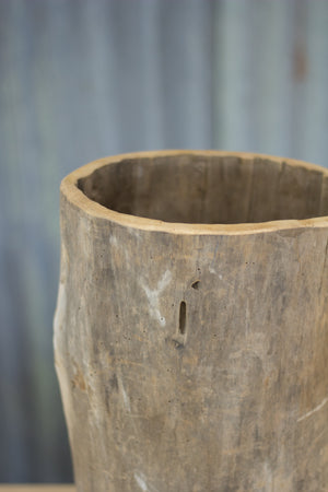 Antique Carved Hornbeam Barrel