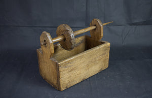 Antique Primitive Flax Spinner Box