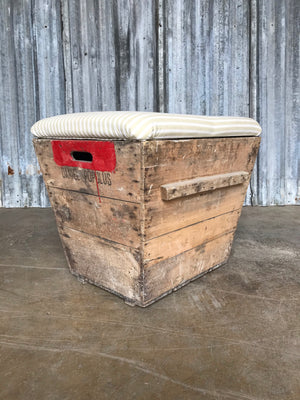 Antique Champagne Crate Bench