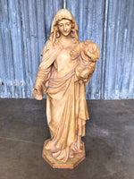 Antique Spanish Plaster Madonna