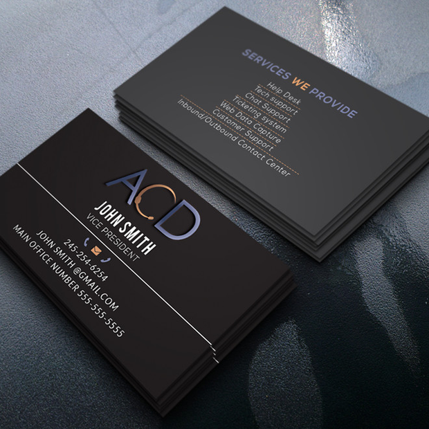 Custom, Professionally Designed Business Cards