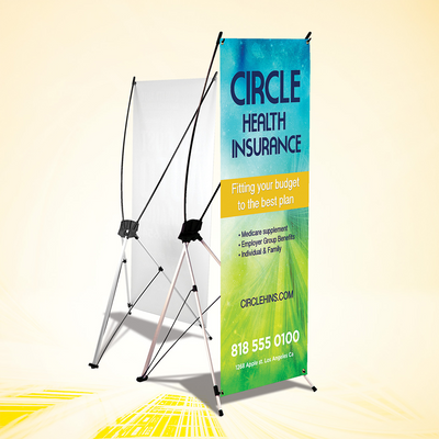 X-Style Banner (outdoor) 24'' x 60''- includes design and setup