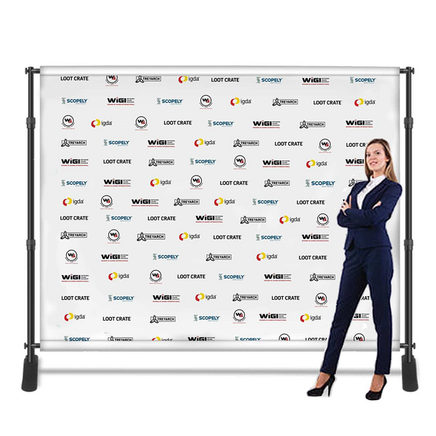 Banner Backdrop 96'' x 96'' - includes design and set up