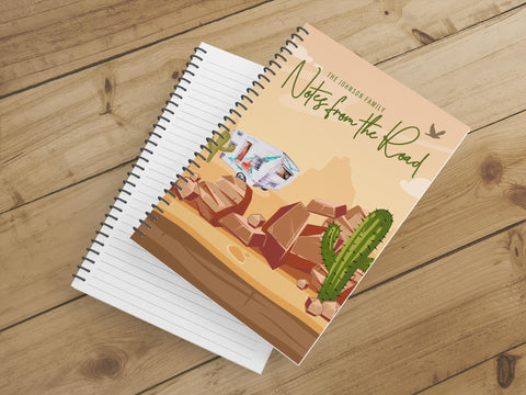 Personalize Notebook  (Desert Travels) - Spiral Notebook - Notes From the Road