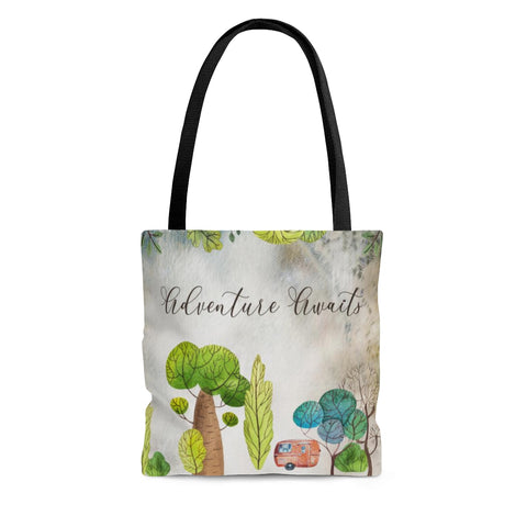 Adventure Awaits Camping Tote Bag
