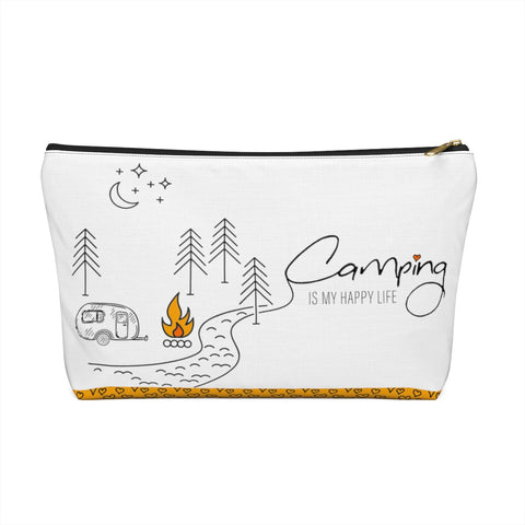 Camping Is My Happy Life Accessory Pouch
