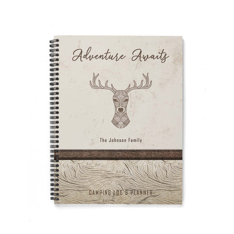 RV Log & Camping Journal (Brown Deer) - Travel Planner - Personalize Camp Journal
