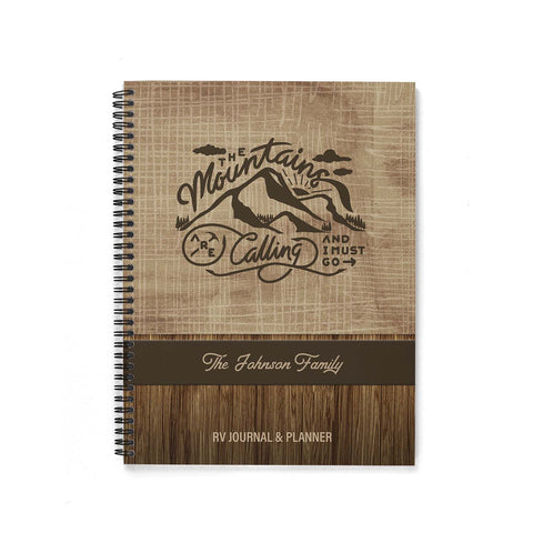 Camping Journal & Planner (The Mountains Are Calling)
