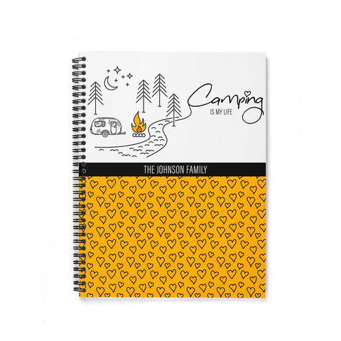 RV Log & Camping Journal (Travel Trailer Line) - Travel Planner - Personalize Camp Journal