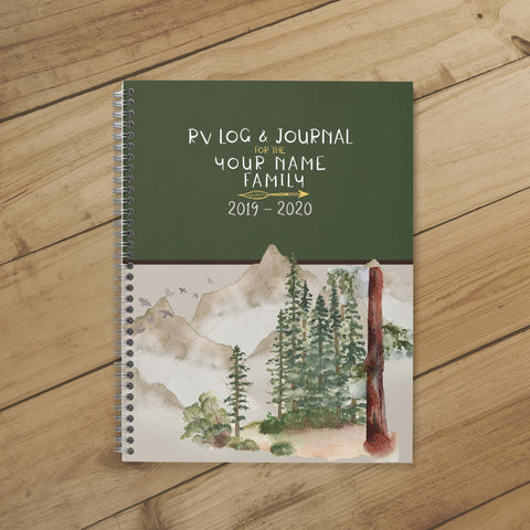 Camping Journal & Planner (Wooded Mountain)