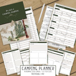 Camping Log & Travel Journal (Into the Woods)  - Printable PDF
