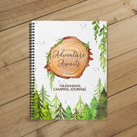 Camping Planner & Journal (Wooded Stump)