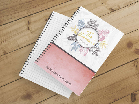 Personalize Notebook  (Pink Myrtle) - Spiral Notebook - Notes From the Road