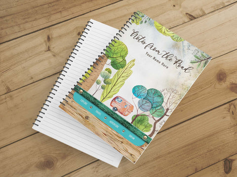 Personalize Notebook  (Colorful Trees) - Spiral Notebook - Notes From the Road